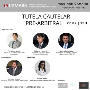 Webinar CAMARB Recife - Tutela Cautelar Pré-Arbitral
